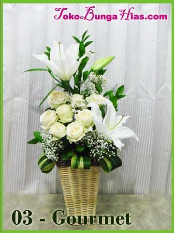 buket bunga mawar putih auto design tech