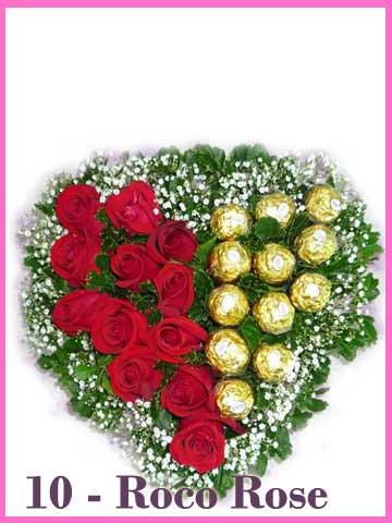Bunga Valentine Mawar Merah Dan Coklat