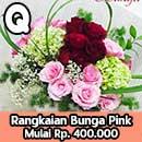 Bunga Meja Warna Pink