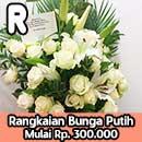 Rangkaian Bunga Mawar Putih