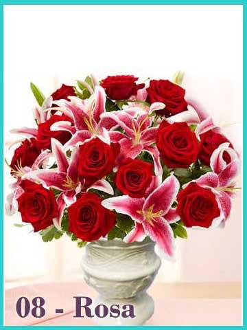 Bunga-Meja-Mawar-Merah-Lily-Casablanca-Rosa