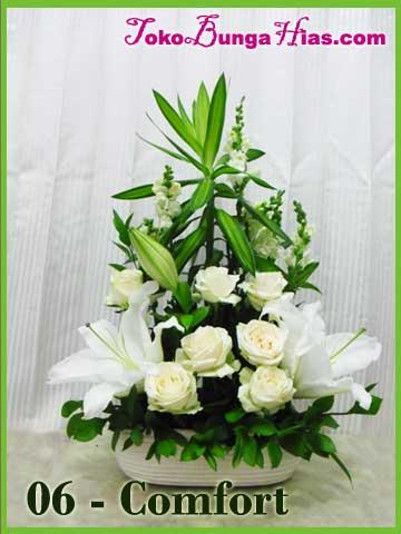 pengiriman buket bunga mawar putih