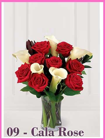 Vas Bunga Mawar Merah Cala Lily Valentine 2013