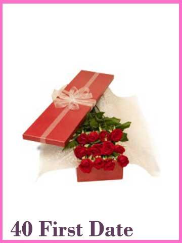 Bingkisan Selusin Bunga Mawar Merah Valenttine